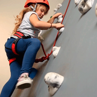 pediatric therapy climbing wall