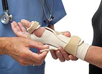 Certified Hand Therapist fitting splint